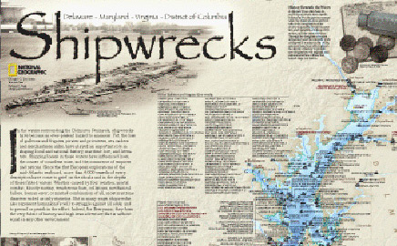 Shipwreck Map of Delmarva